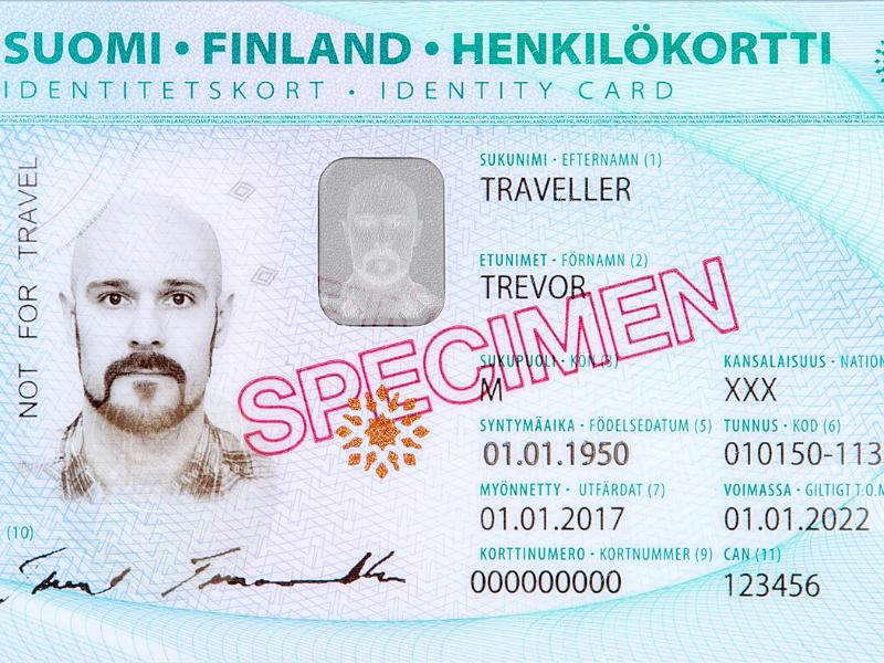 Finlândia, carteira de identidade, ID, henkilökortti - documento - Helsinki - expatriados