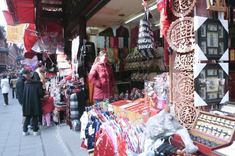 China, Shanghai, mercado chinês
